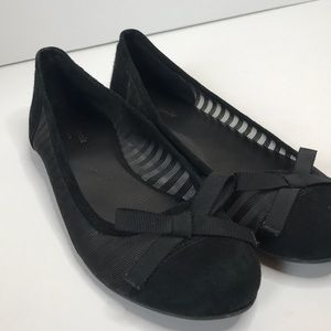 Kate Spade Black Jump Mesh Ballet Flats 8.5